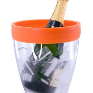 Pulltex Silicone Top Ice Bucket – Orange