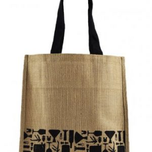 Vinus Black Printed Shopping Bag