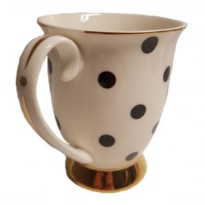 Blue Cadeaux Mug White With Black Spots