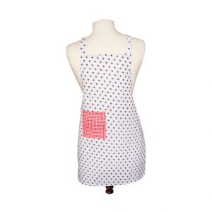 Bombay Duckling Apron Eddie Boys White With Blue Stars