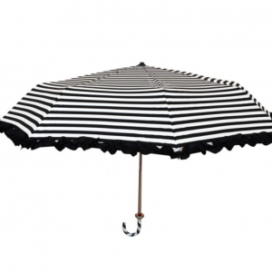 Lollipop Stripy Handbag Umbrel – Lollipop Stripy Handbag Umbrella Black/White