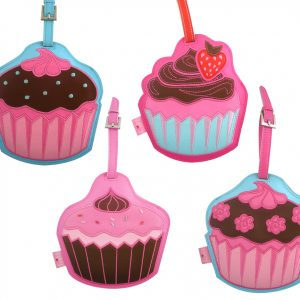 Fluff Luggage Tags Cup Cakes – Set Of 4