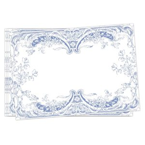 MDW Fabric Placemats Set Of 4 – Antique Scroll