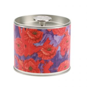 Greenleaf Painted Poppy Signature Tin Candle