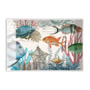 MDW Glass Rectangle Soap Dish – Sea Life