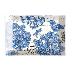 MDW Glass Rectangle Soap Dish – Indigo Cotton
