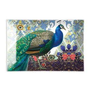 MDW Glass Rectangle Soap Dish – Peacock