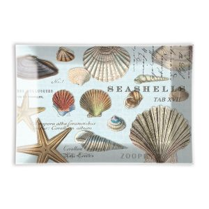 MDW Glass Rectangle Soap Dish – Seashells