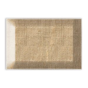 MDW Glass Rectangle Soap Dish – Burlap