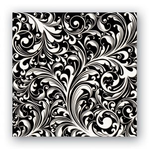 MDW Cocktail Napkins – Black Florentine