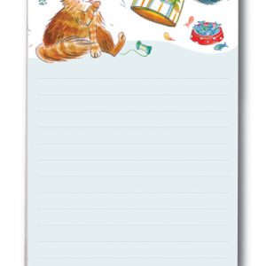 Magnetic Shopping List Happy Cats