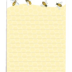 Magnetic Shopping List Honey Bees