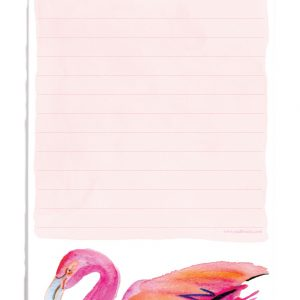 Magnetic Shopping List Flamingo