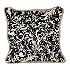 MDW Decorative Pillow Square – Black Florentine