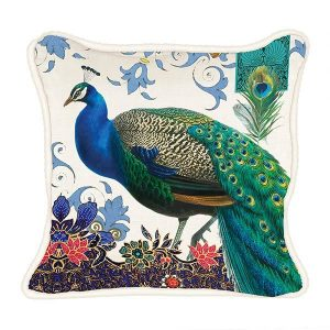 MDW Decorative Pillow Square – Peacock