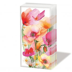PPD Sniff Tissues – Aquarell Poppies
