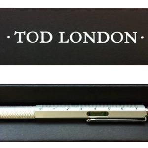 Tod London Level Pen Silver With Ruler And Mini- Screwdriver