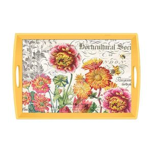 MDW Wooden Decoupage Large Tray – Blooms And Bees