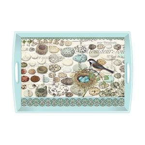 MDW Wooden Decoupage Large Tray – Nest And Eggs