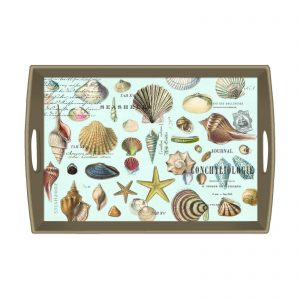 MDW Wooden Decoupage Large Tray – Seashells
