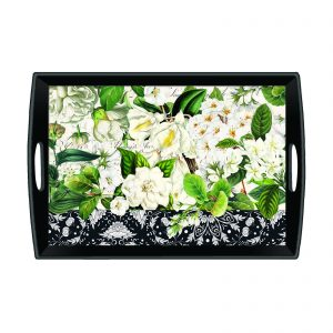 MDW Wooden Decoupage Large Tray – Bouquet
