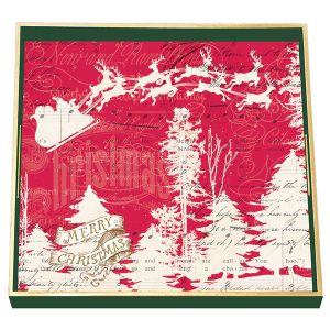 MDW Wooden Decoupage Square Tray – Sleigh Ride