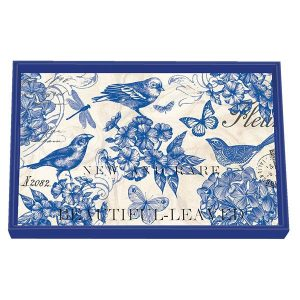 MDW Wooden Decoupage Vanity Tray – Indigo Cotton